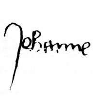 Joan of Arc's signature